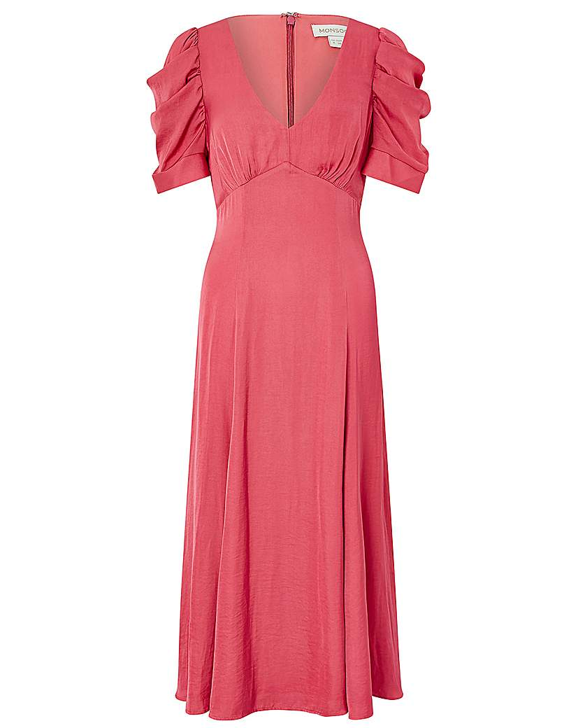 1930s Dresses, Shoes, Lingerie, Clothing UK Monsoon Amelia Satin Midi Dress £99.00 AT vintagedancer.com