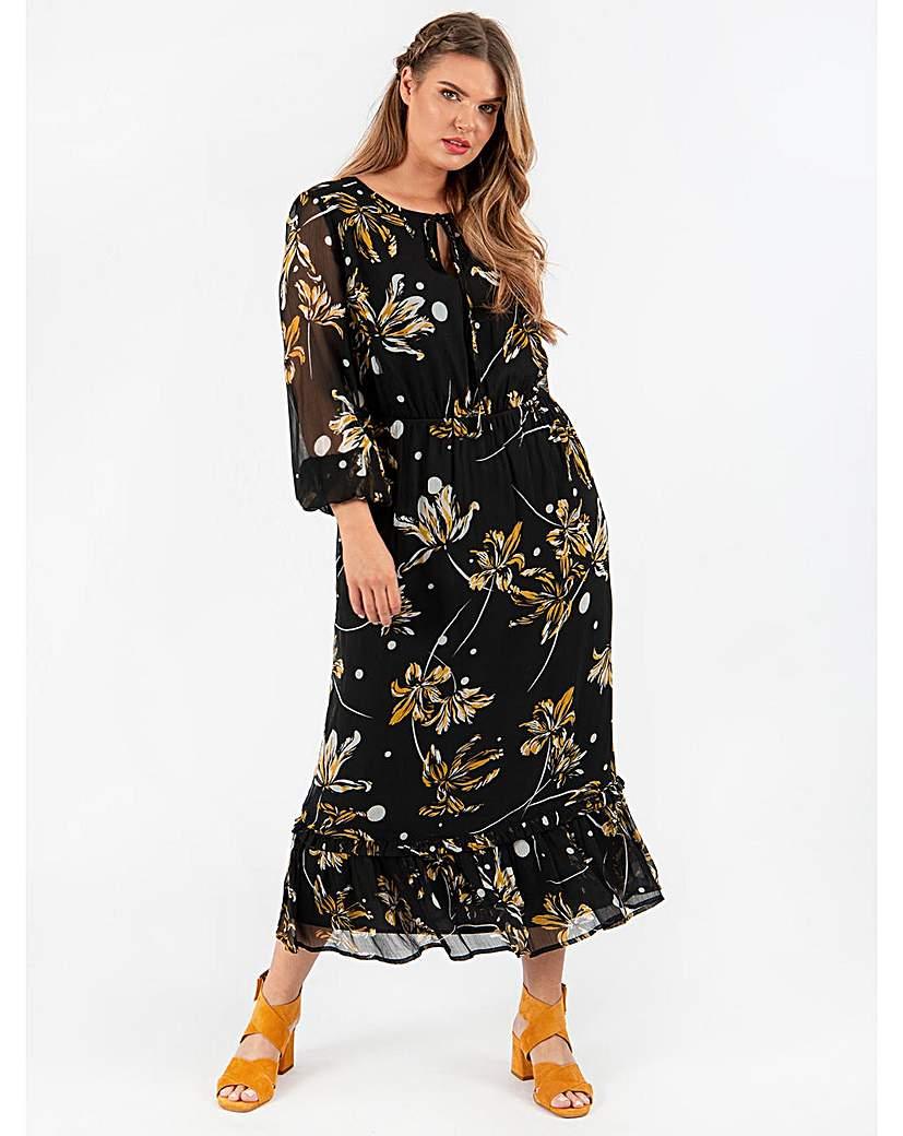 Koko Floral Print Maxi Dress