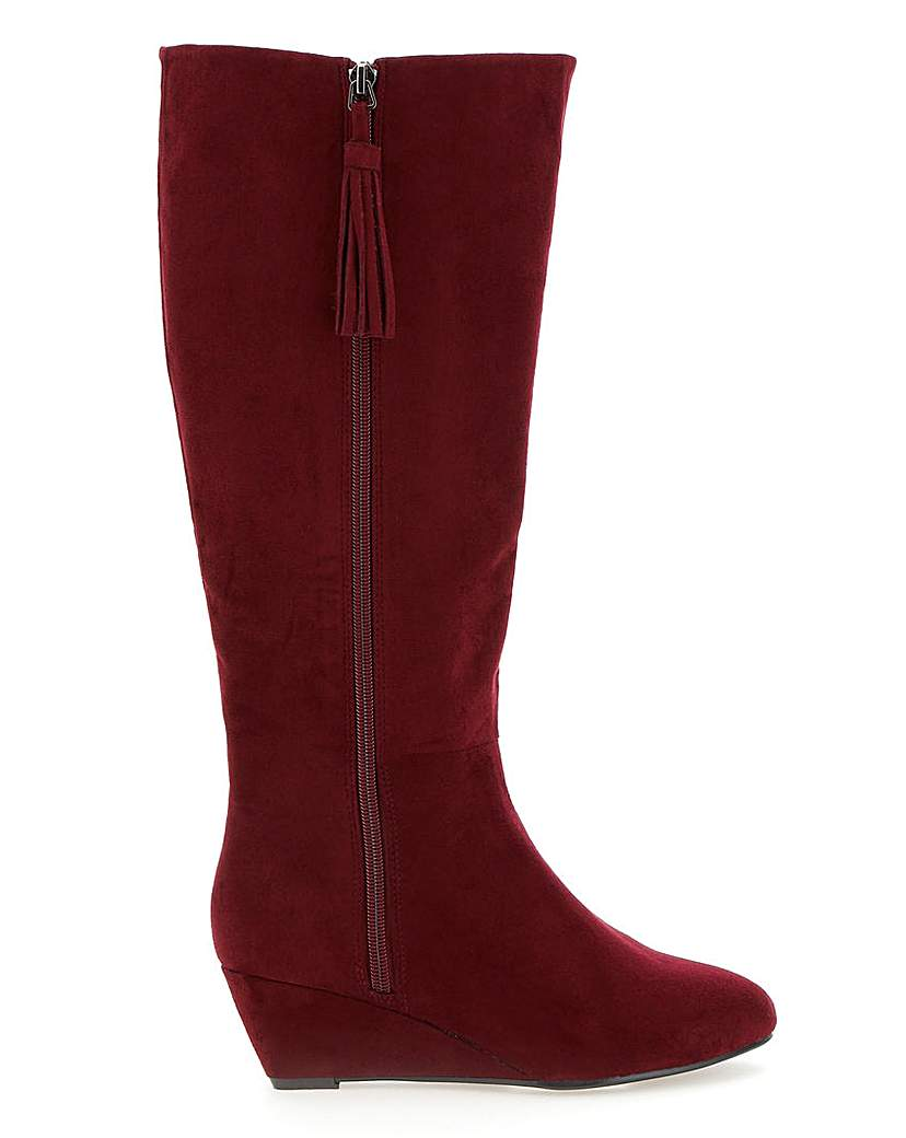 JD Williams Soft Wedge Boots EEE Fit Standard Calf