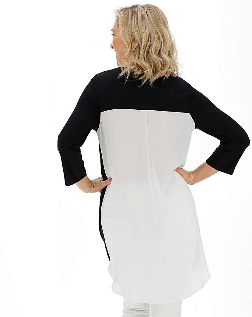 Black and White Woven Back Tunic