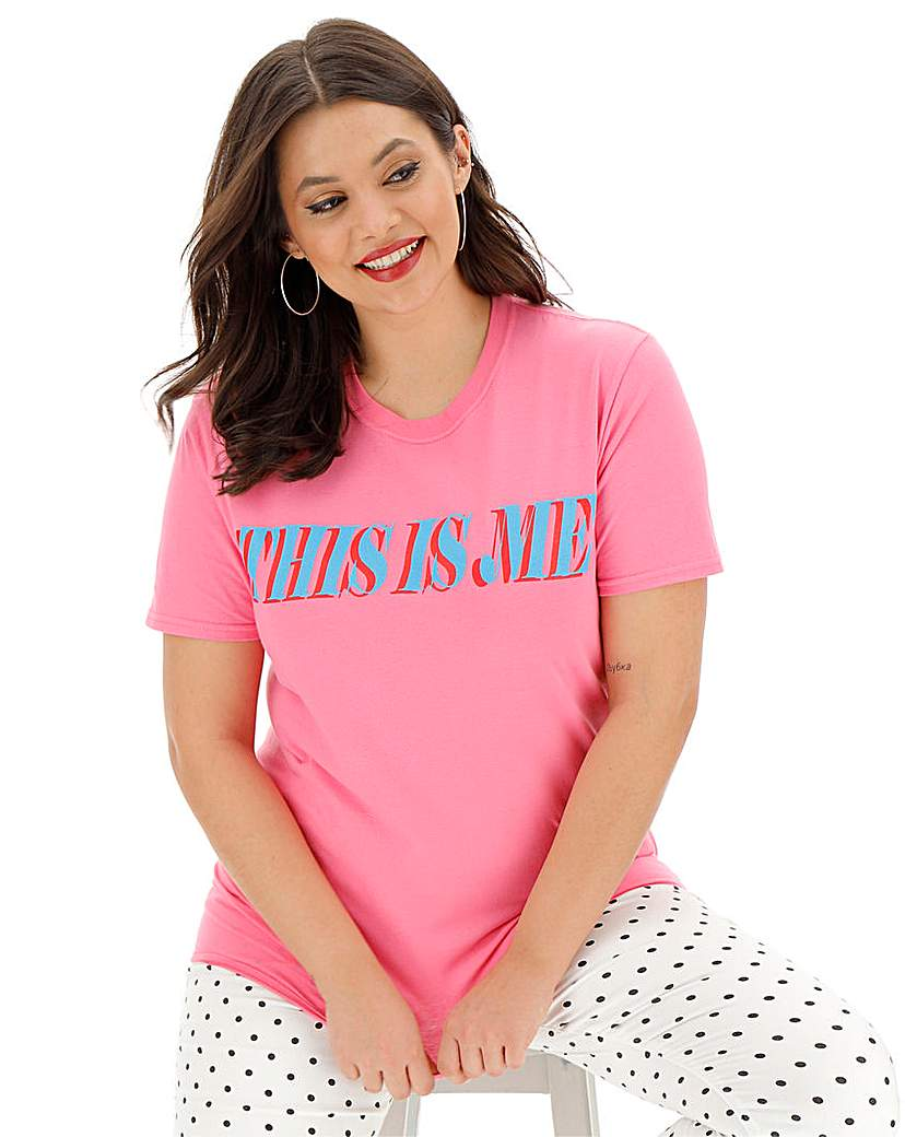 Simply Be This is Me' Slogan T-Shirt