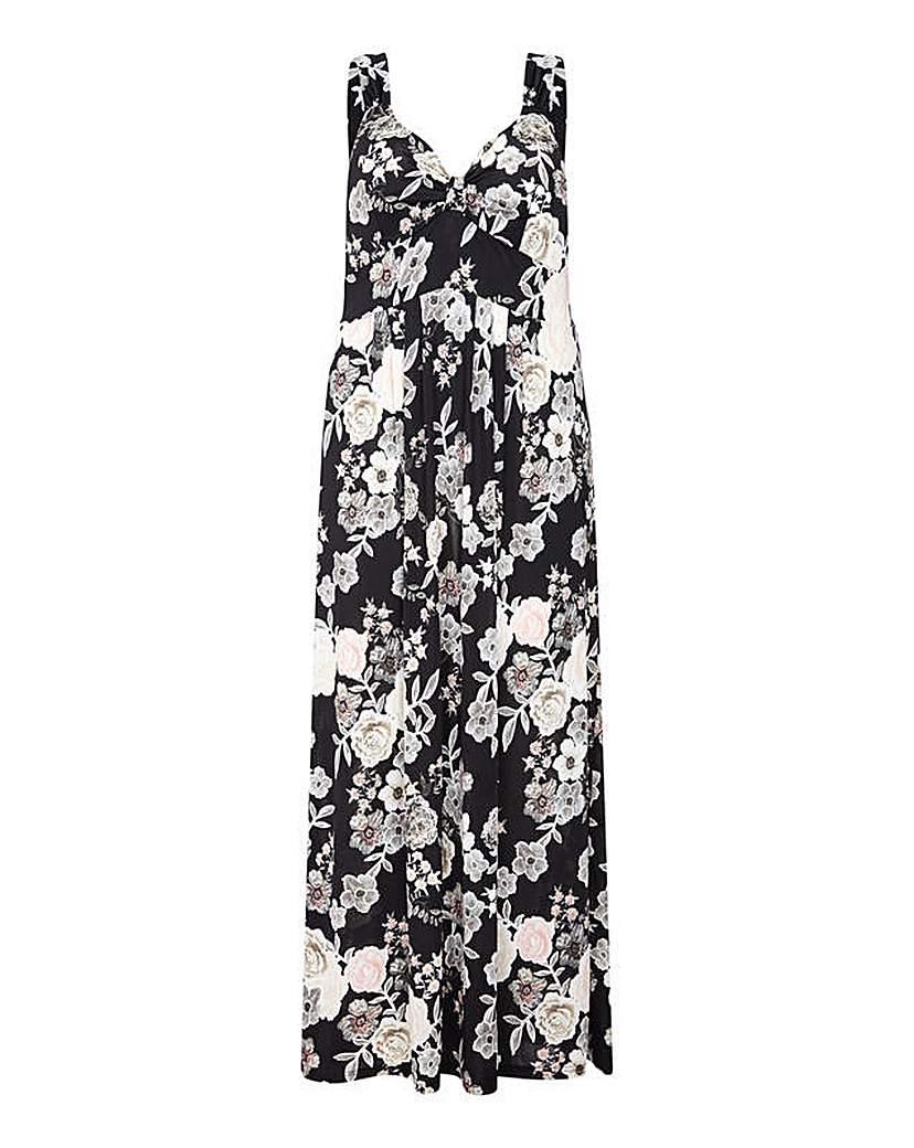 Image of Mela London Curve Floral Print Maxi Dres