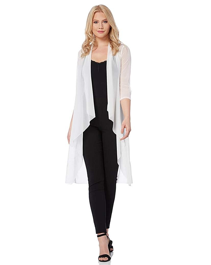 Roman Mesh Longline Kimono Jacket