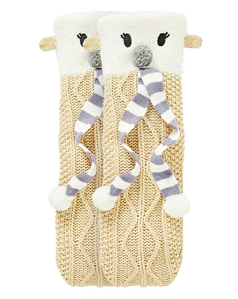 1 Pack Polar Bear Knitted Socks