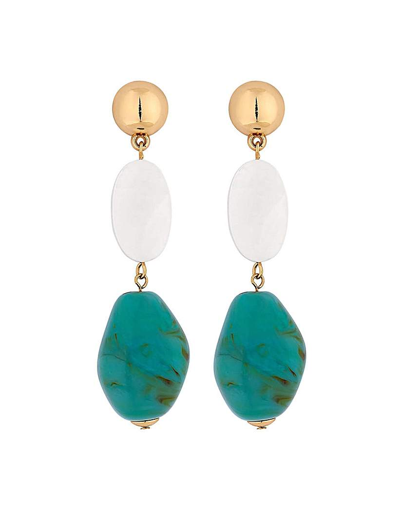 Mood Turquoise Beaded Drop Earrings