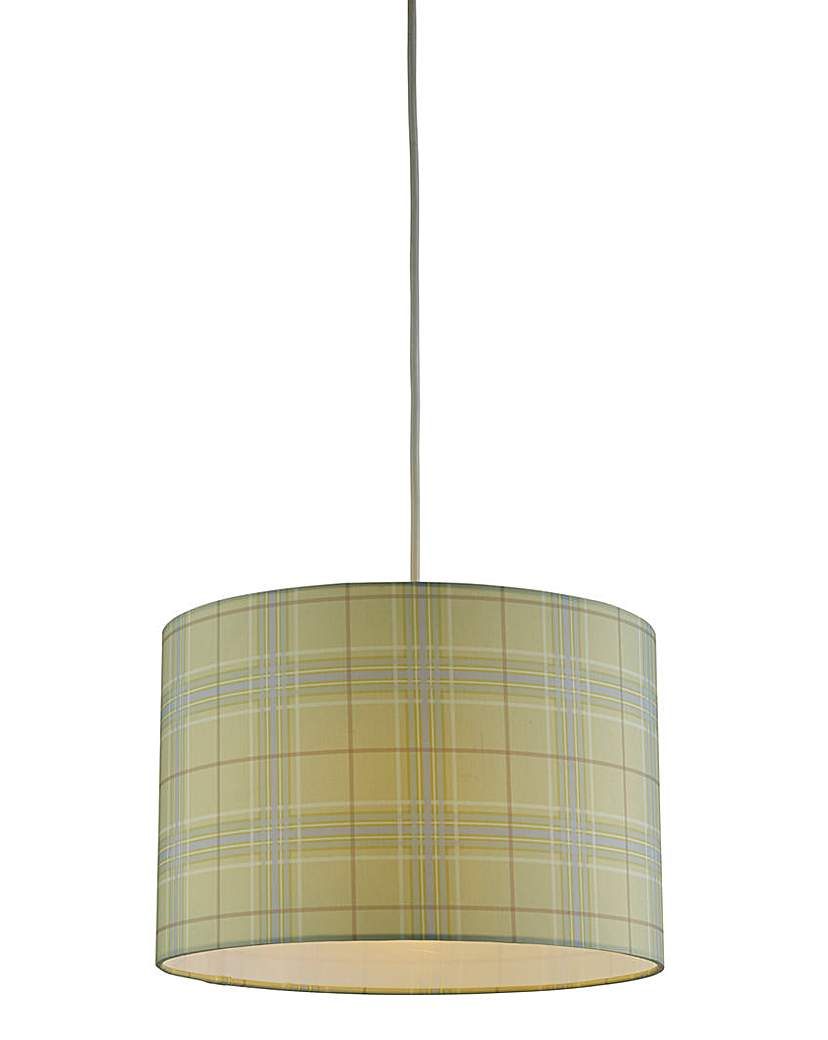 Image of Country Check Pendant Shade