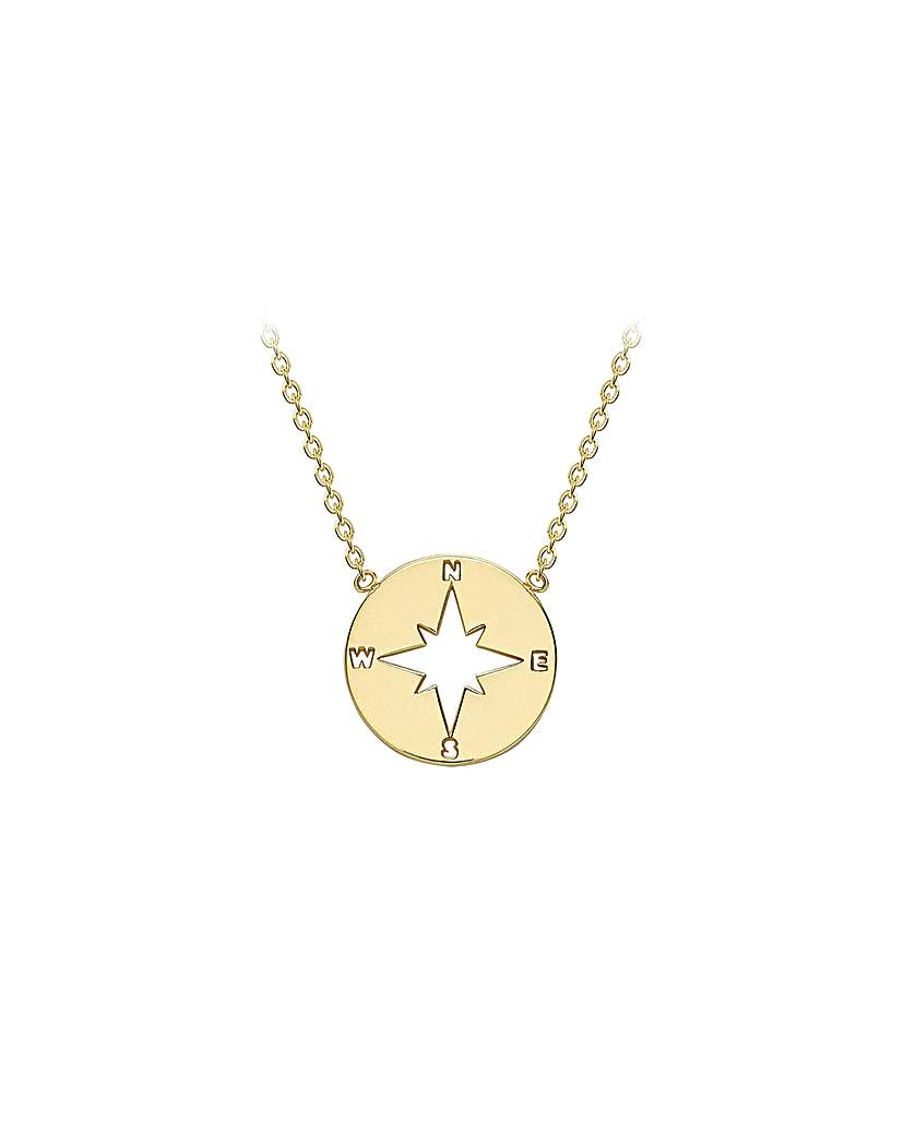 Simply Be 9Ct Gold Compass Necklace
