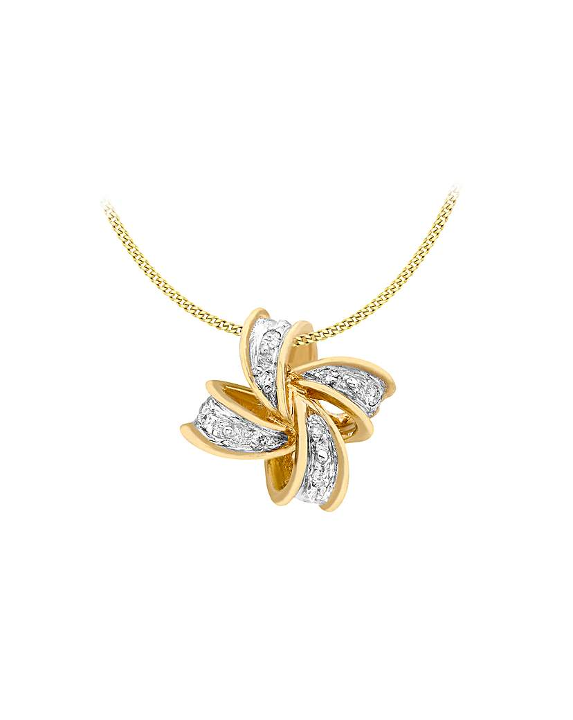 Simply Be 9Ct Gold Diamond Cross Necklace