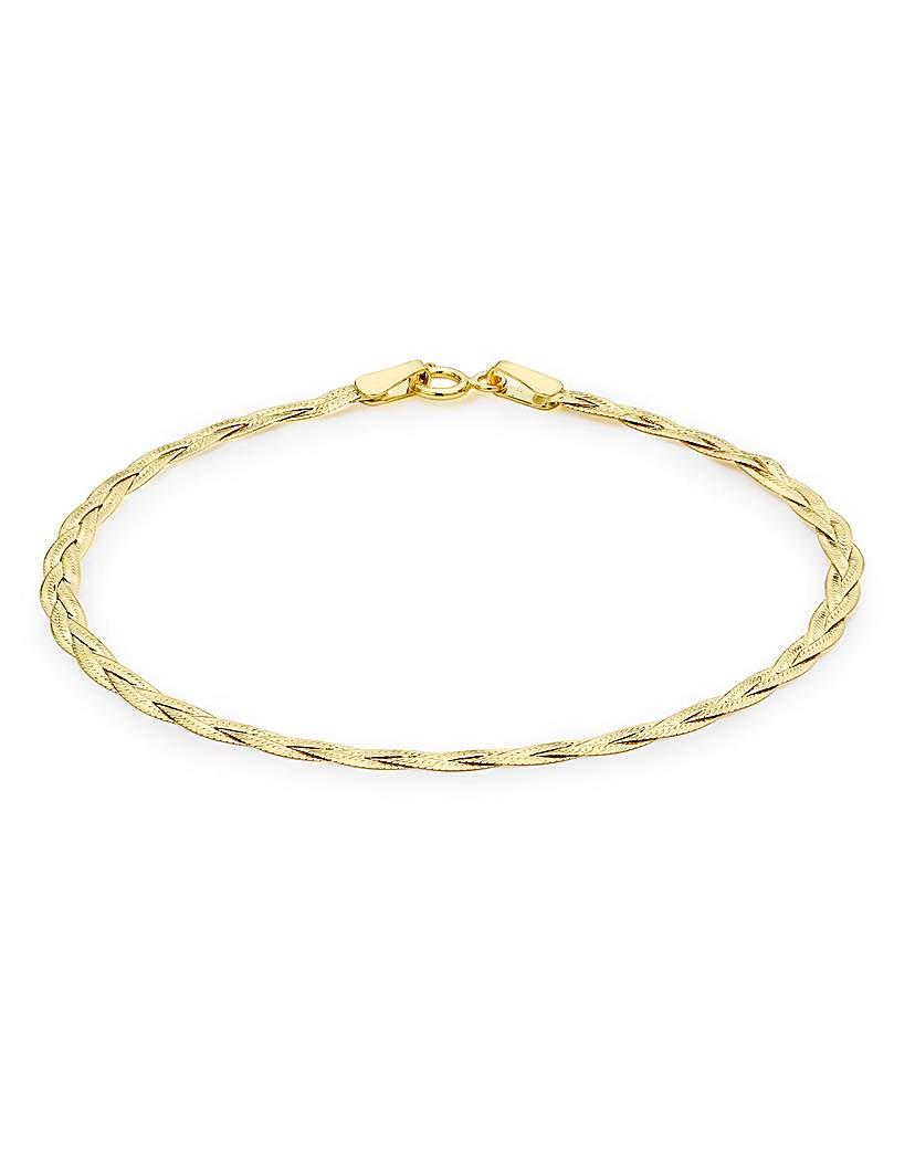 Simply Be 9Ct Gold Herringbone Bracelet