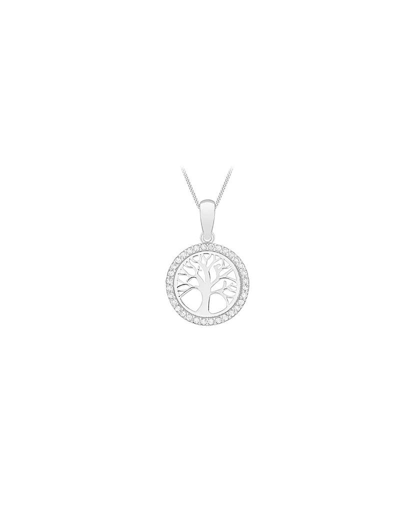 Simply Be 9Ct Gold CZ Tree Of Life Necklace