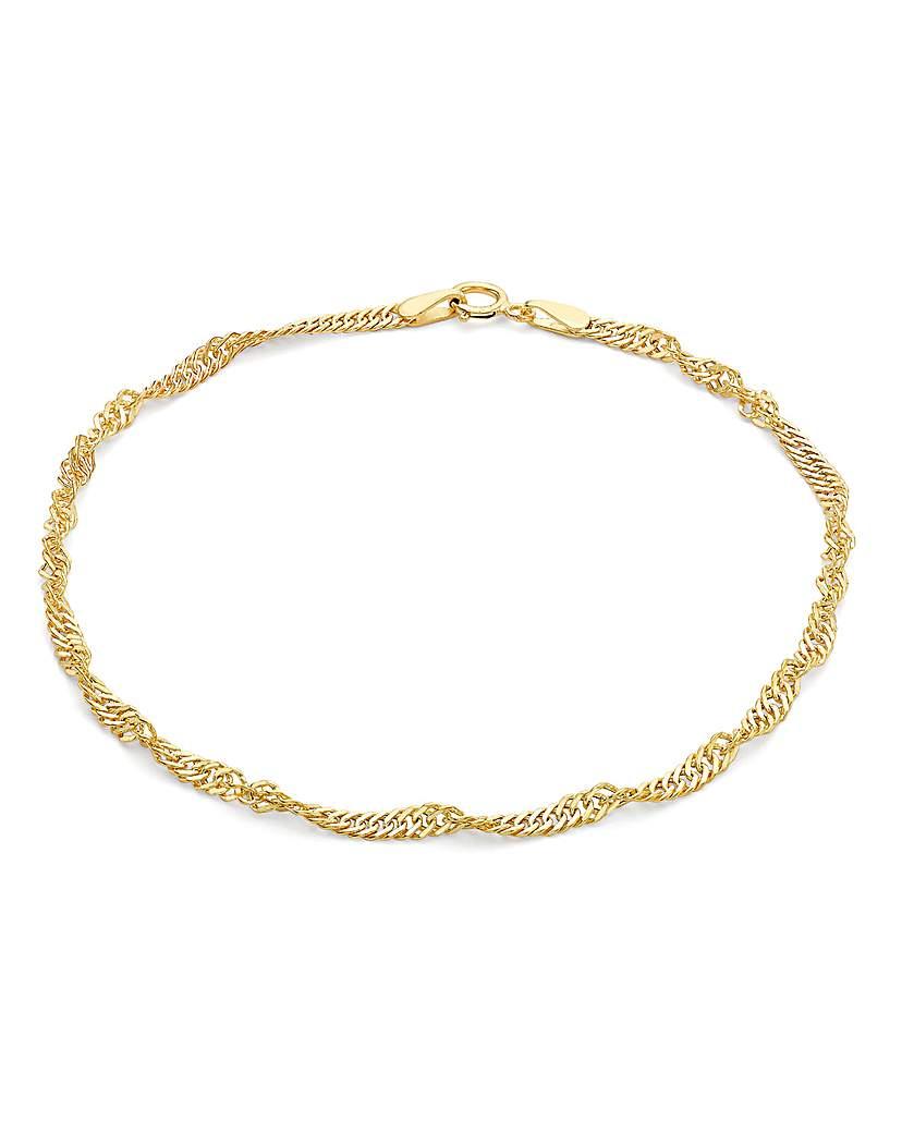 Simply Be 9Ct Gold Twist Curb Bracelet