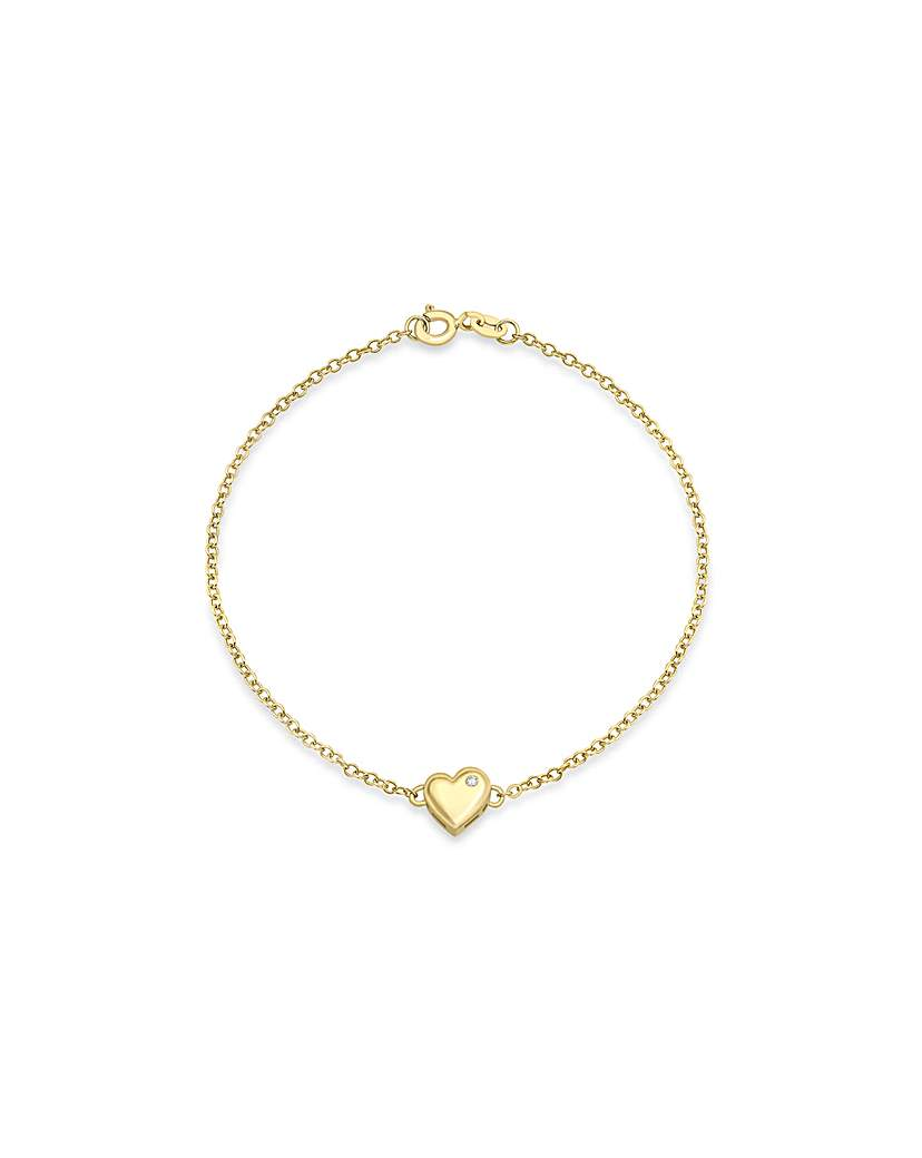 Simply Be 9Ct Gold Heart Bracelet
