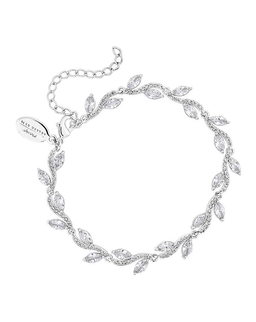 Jon Richard Silver Plated Leaf Bracelet