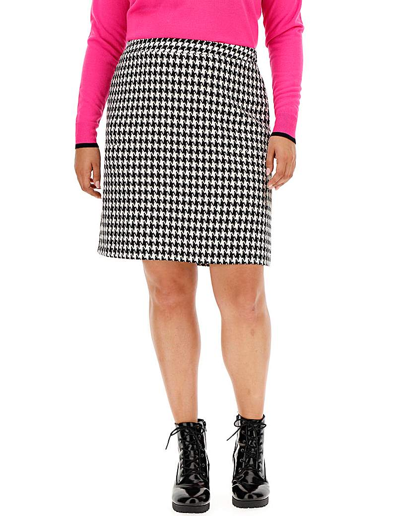 Simply Be Houndstooth Check Mini Skirt