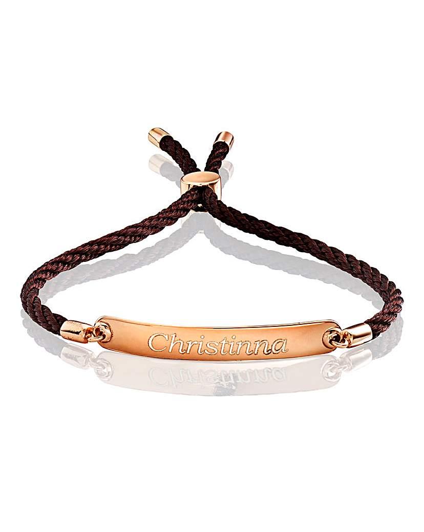Personalised Plaque Rope Bracelet