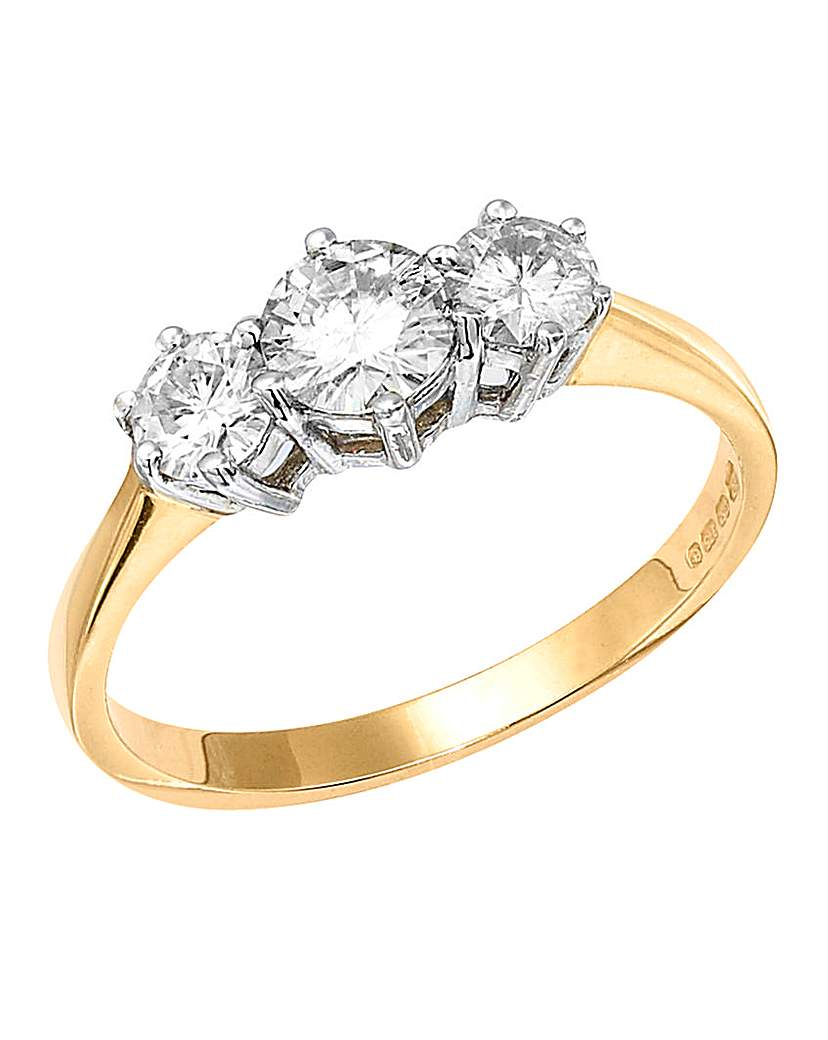 Compare retail prices of 1 Carat Moissanite Trilogy Ring to get the best deal online