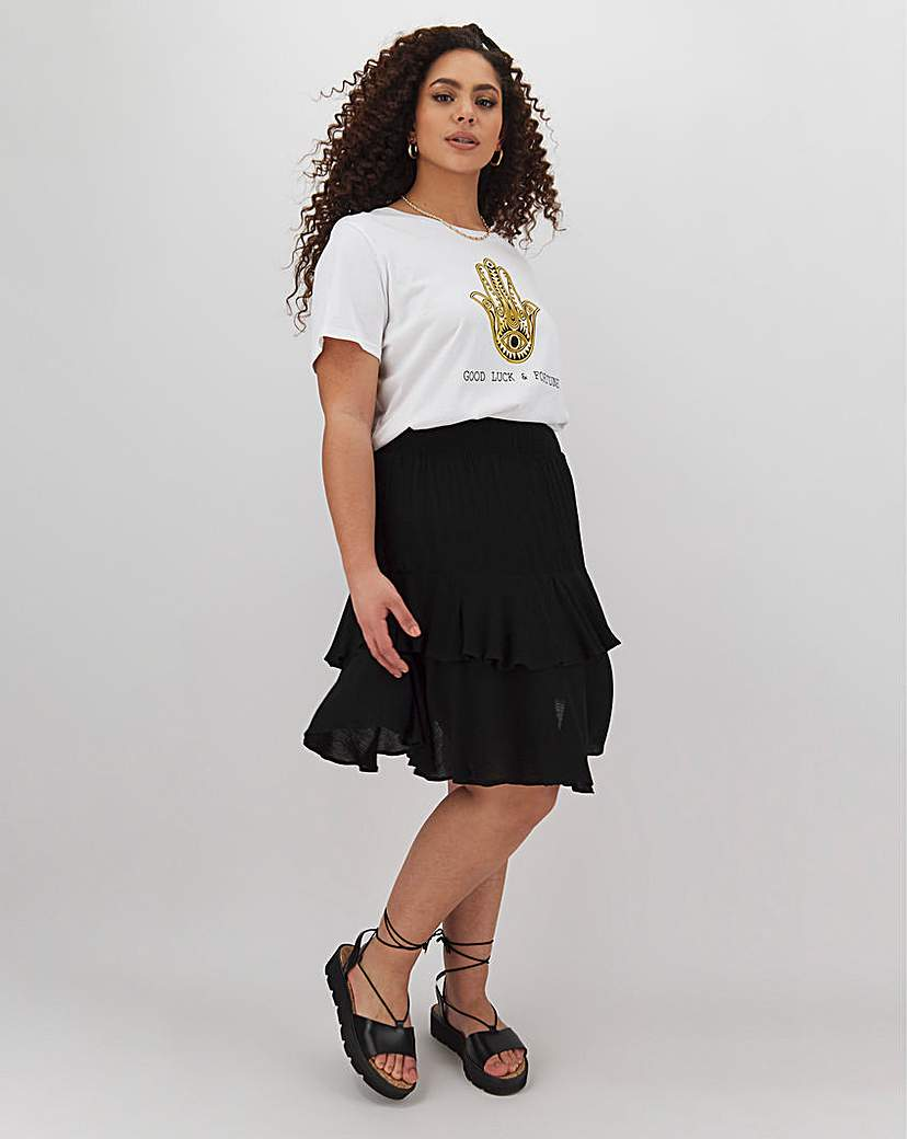 Simply Be Crinkle Double Layer Short Skirt