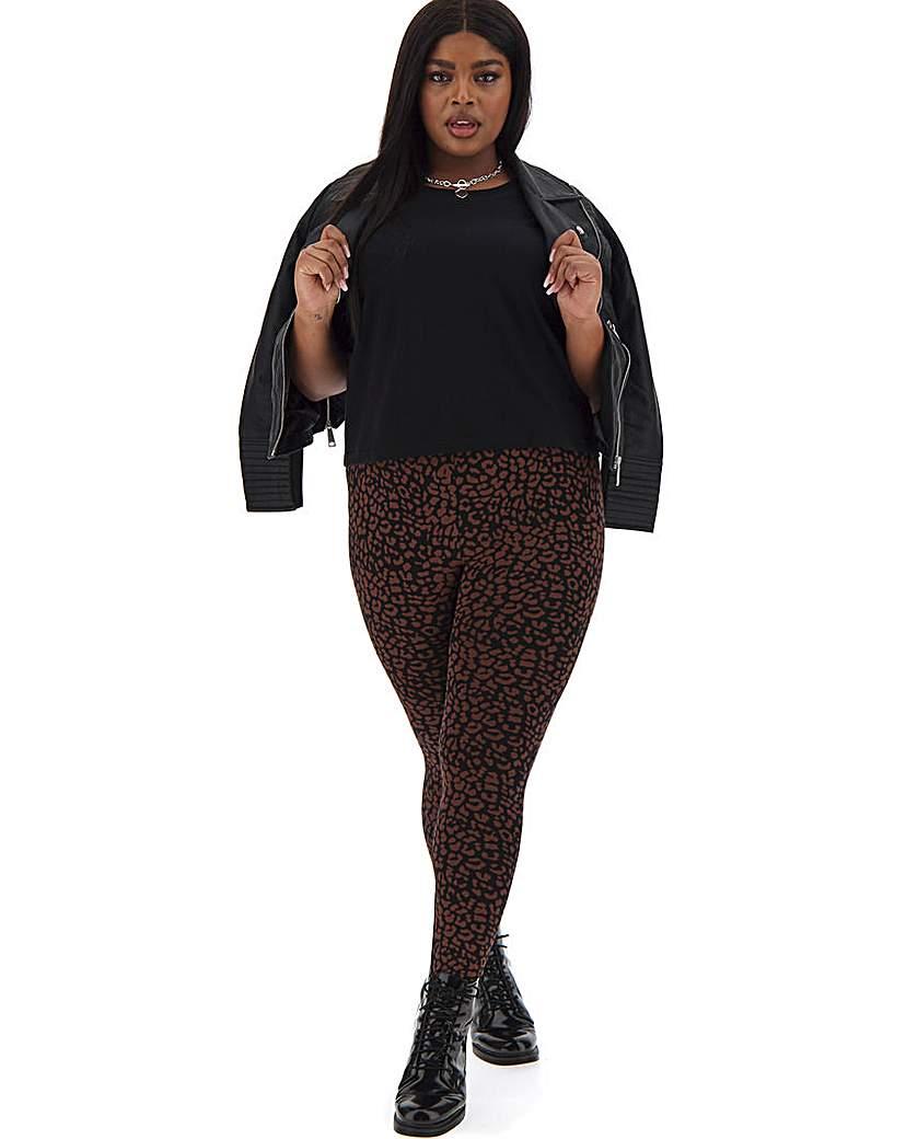 Capsule Leopard Print Jersey Leggings Regular