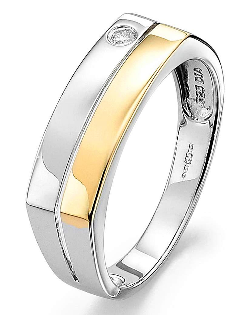 9 Carat Yellow Gold Diamond Set Ring