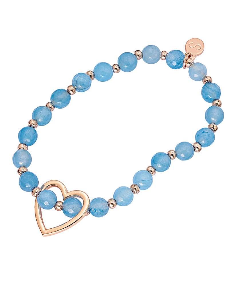 Gemstone Stretch Heart Bracelet