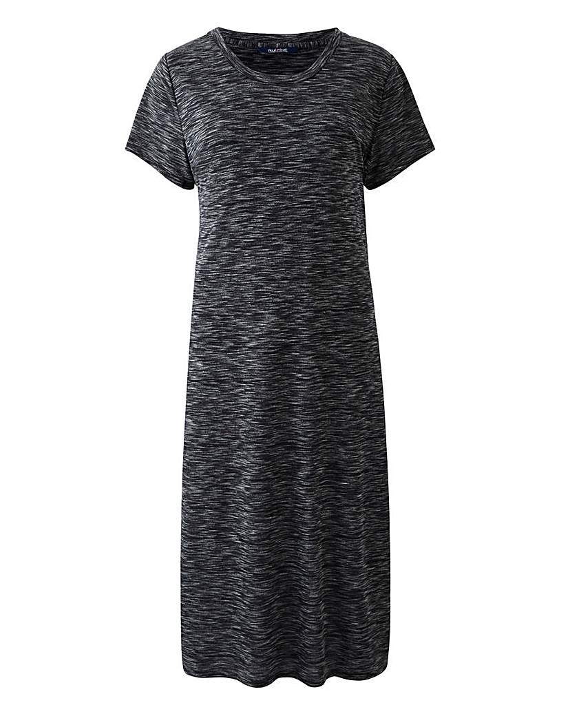 Simply Be Mid Grey Side Split Space Dye Tunic