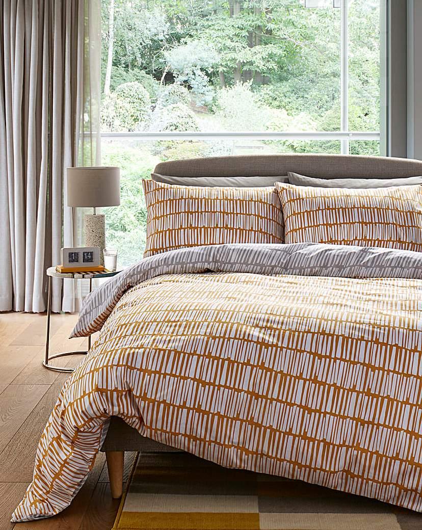 Image of Malbec Grey & Ochre Duvet Cover Set