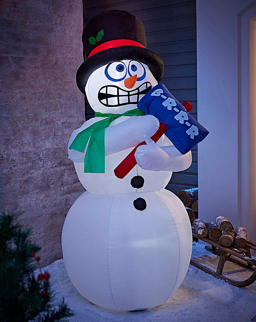 Image of 1.8M Inflatable Shaking Outdoor Snowman
