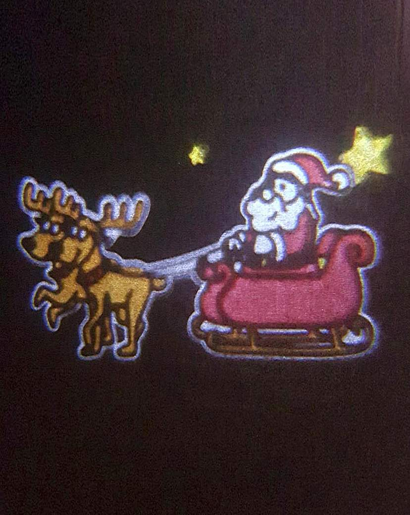 Image of Animated Projector Santa & Reindeer