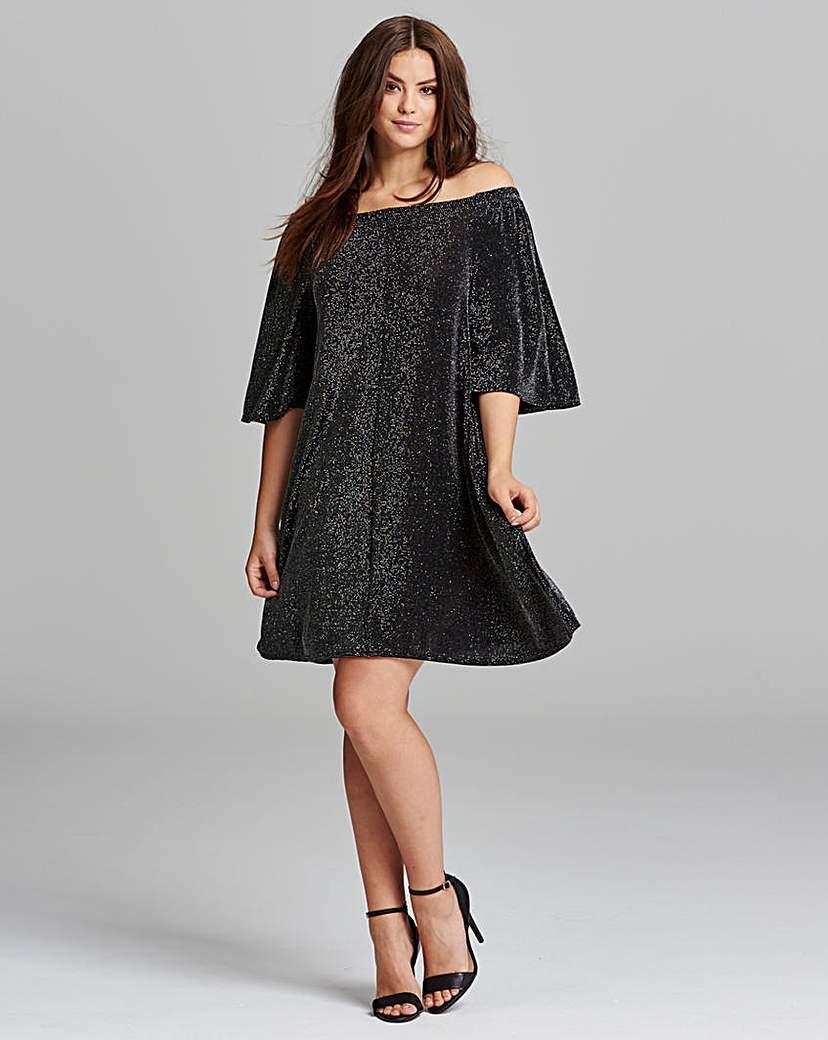 AX Paris AX Paris Lurex Bardot Dress