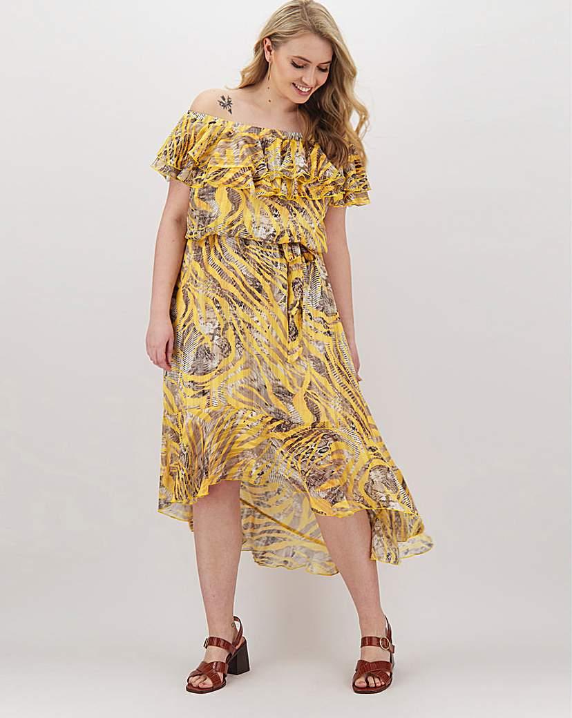 Joanna Hope Joanna Hope Frill Printed Bardot Dress