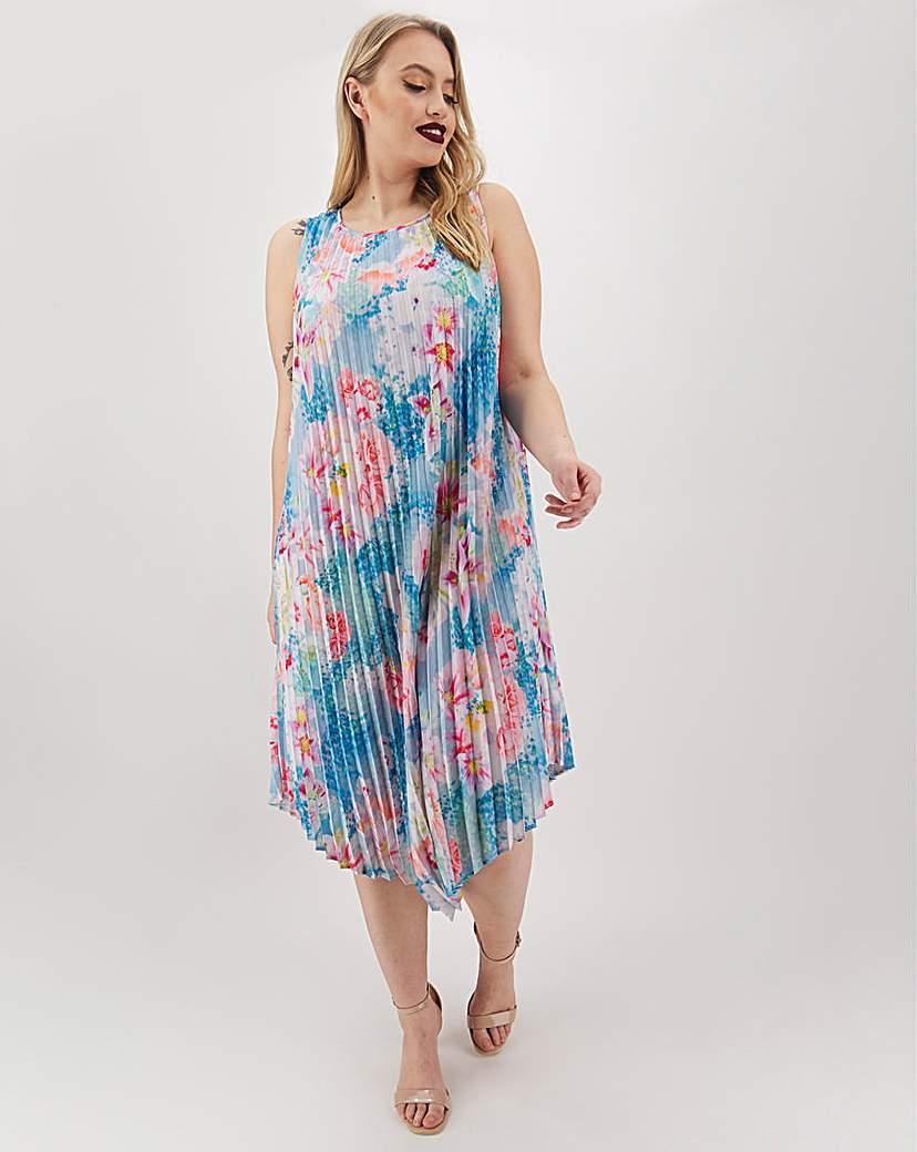 Joanna Hope Joanna Hope Print Pleated Midi Dress