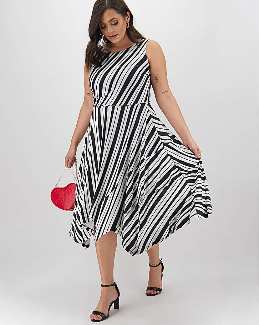 Joanna Hope Joanna Hope Striped Midi Dress
