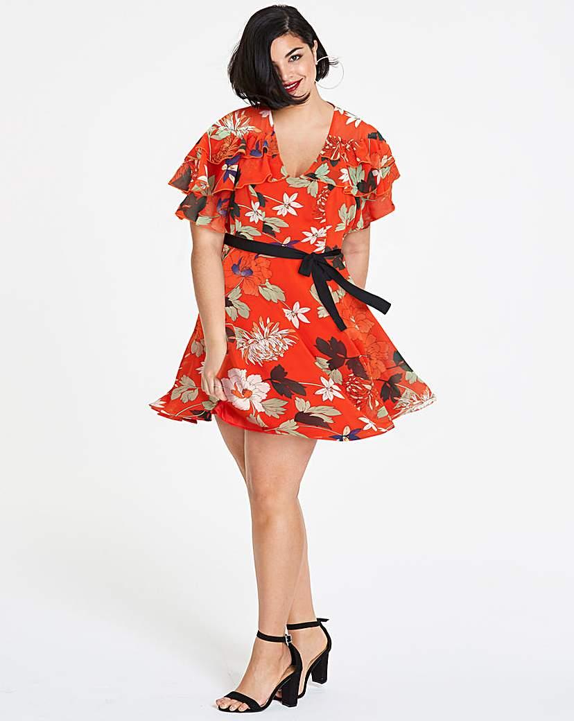 Simply Be Floral Print Mini Dress