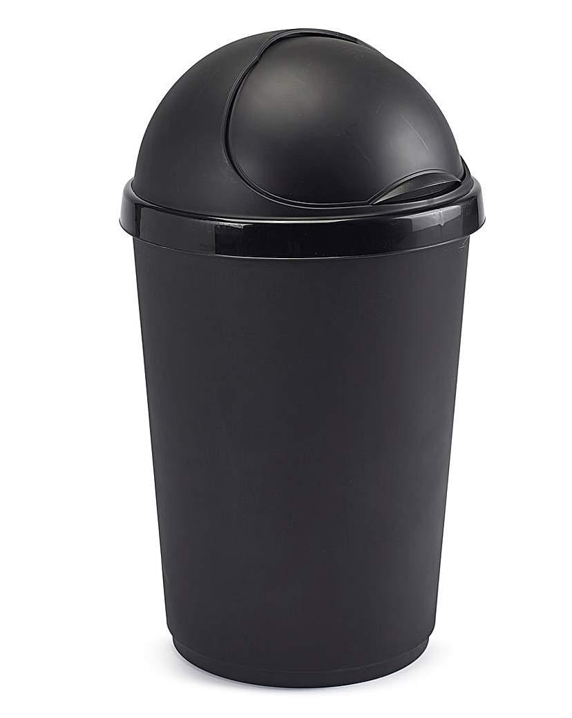 50L Plastic Bin Black