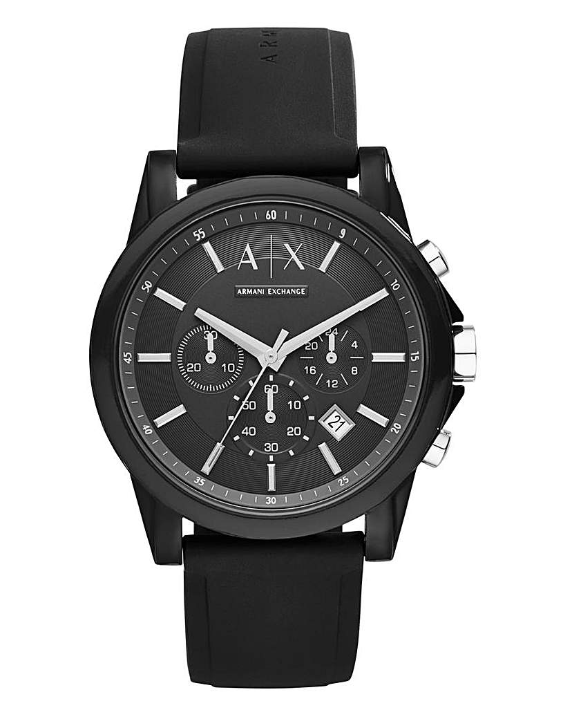 Armani Exchange Mens Black Strap Watch