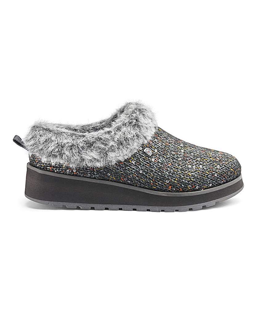 Skechers Ice Angel Glitter Mule Slippers