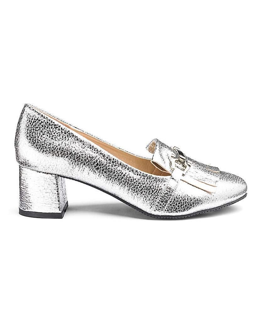 Flexi Sole Block Heel Shoes E Fit