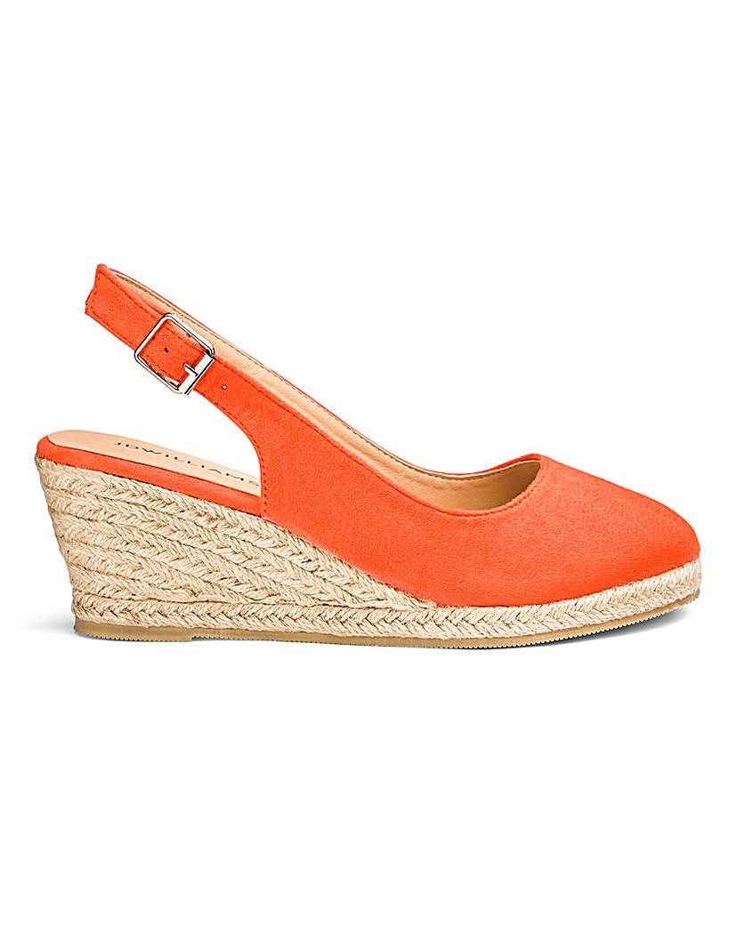 Women's Footwear Slingback Wedge Espadrilles E Fit