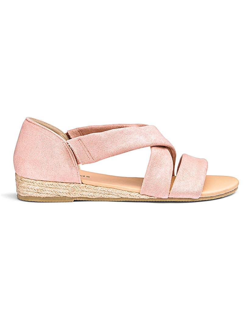 JD Williams Soft Strap Espadrille Sandals EEE Fit