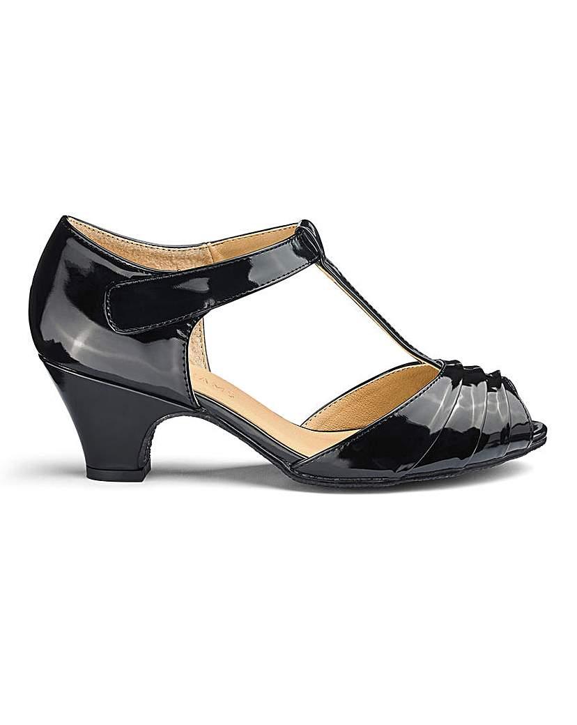 1940s Dresses and Clothing UK | 40s Shoes UK T Bar Occasion Shoes E Fit £21.00 AT vintagedancer.com