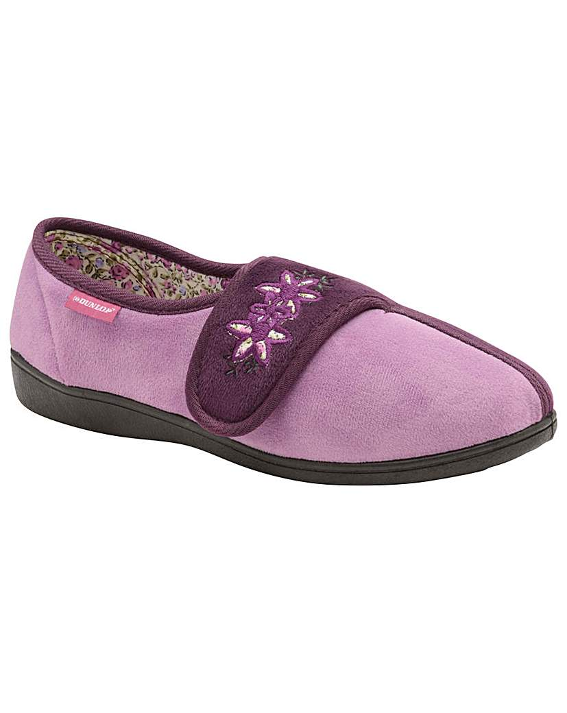 Dunlop Honor women's velcro slippers