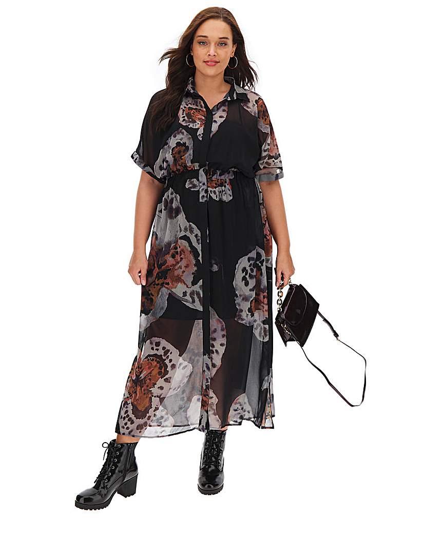 Religion Observation Floral Maxi Dress