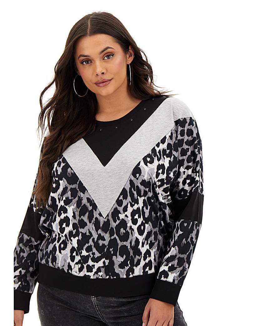 Religion Chevron Animal Print Sweatshirt