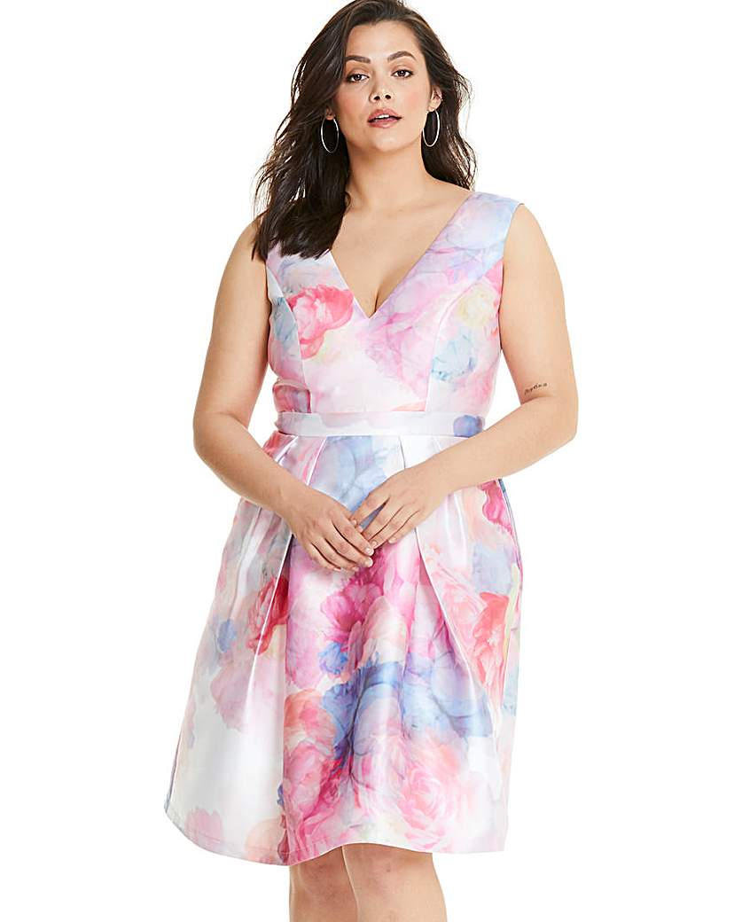 Chi Chi London Chi Chi London Fit & Flare Floral Dress