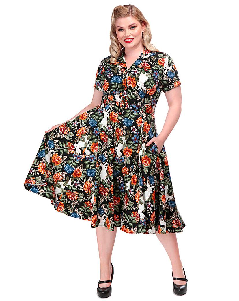 Collectif Caterina Forest Floral Dress