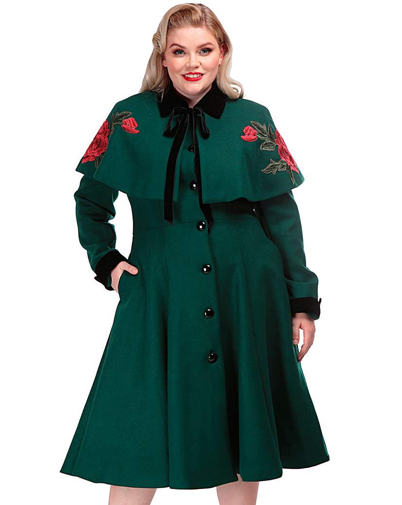 Collectif Collectif Embroiderd Coat & Cape