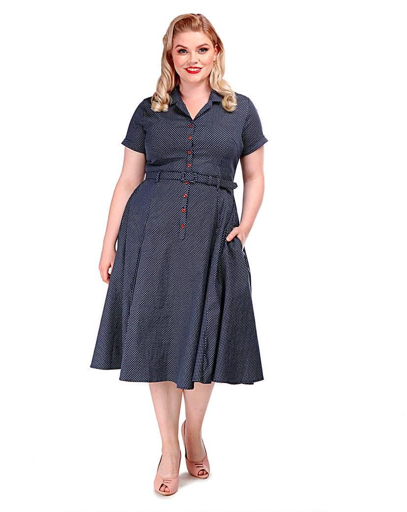 Collectif Caterina Polka Dot Dress
