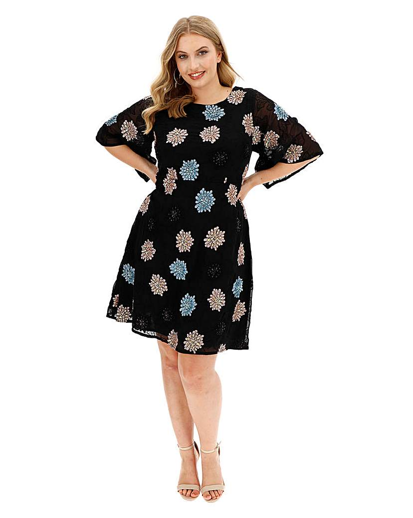 Maya Curve Embroidered Dress