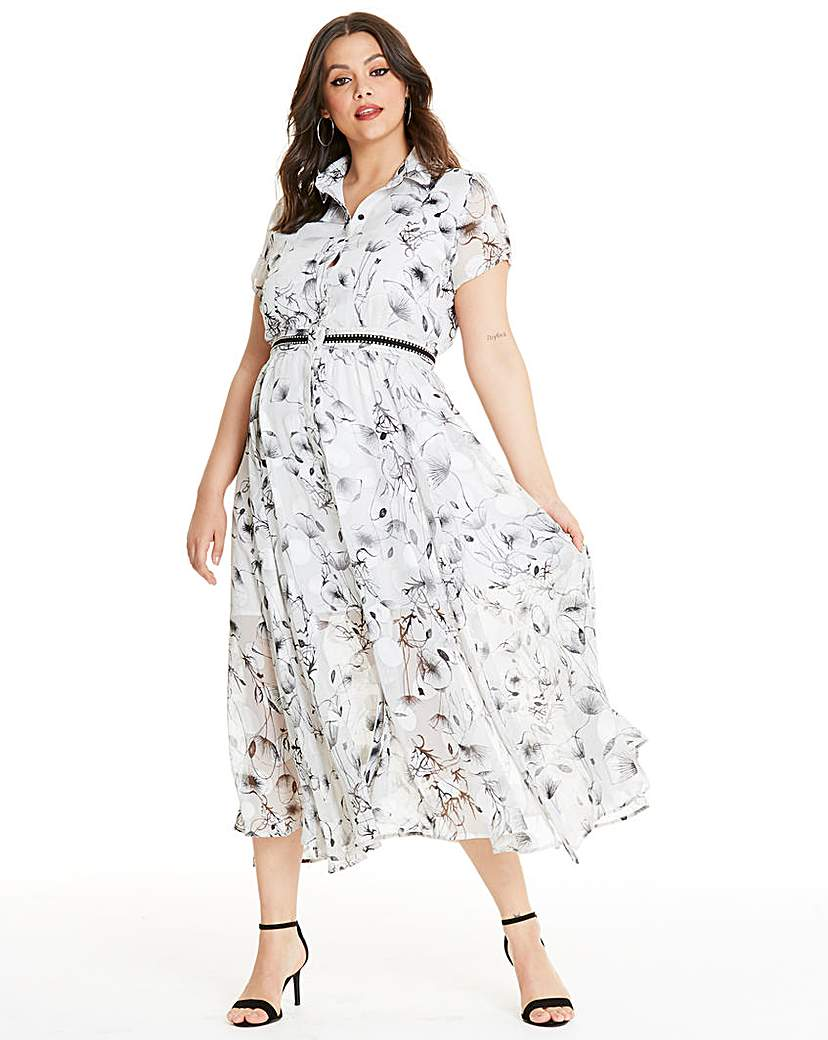 Religion Religion Floral Print Shirt Dress