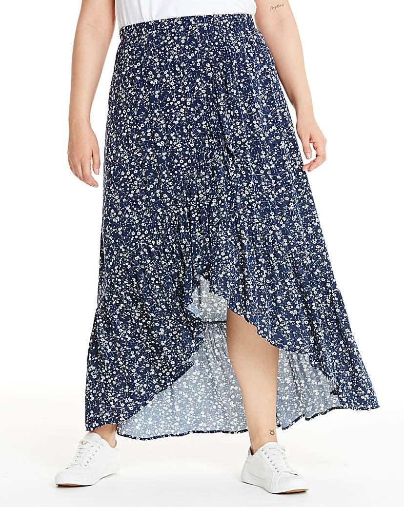 Apricot Apricot Ditsy Floral Wrap Skirt